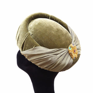 Olive Silk Bow