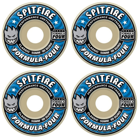 Spitfire Wheels Formula 4 Classics 99d 50mm