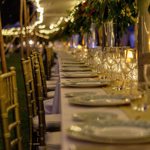 Fine bone china dinner service - Mustique Anniversary Gala dinner