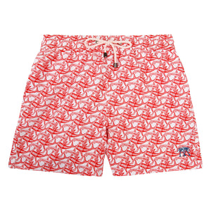 Mens Trunks (Shark, Faded Red)