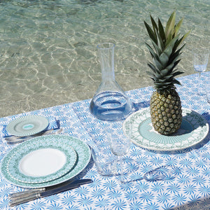 Fine Bone China Dinner Service : MUSTIQUE ISLAND - 12 PLACE SET - Beach style