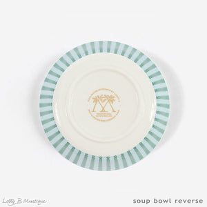 Fine Bone China Dinner Service : MUSTIQUE ISLAND - Bottom of bowl