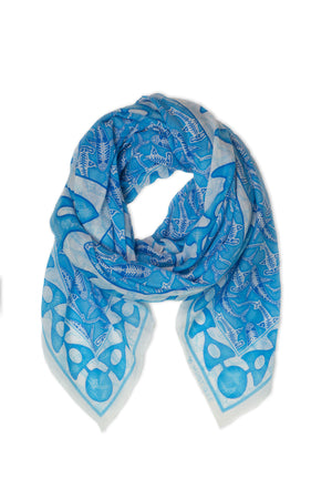 Lotty B Sarong in Cotton (Shark, Blue) Scarf