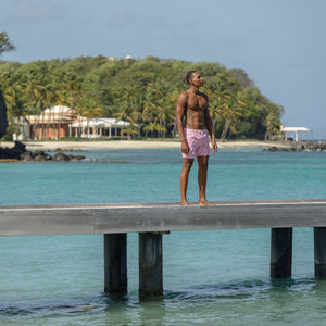Mens Trunks (Shark, Faded Red) Mustique life
