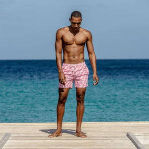 Mens Trunks (Shark, Faded Red) Cotton house pier Mustique