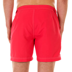 Mens Beach Shorts (Faded Red) Back