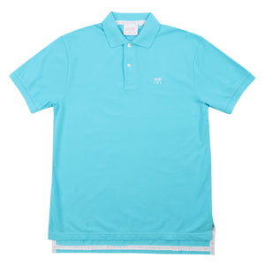 Mens Polo shirt: TURQUOISE - Front