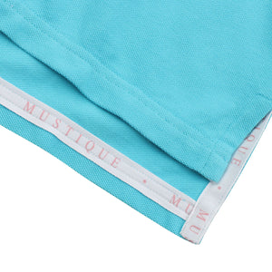 Mens Polo shirt: TURQUOISE - trim