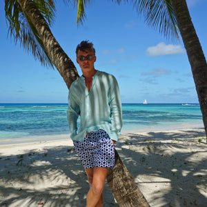 Mens swim trunks : LIFE RING - NAVY designer Lotty B Mustique vacation wear