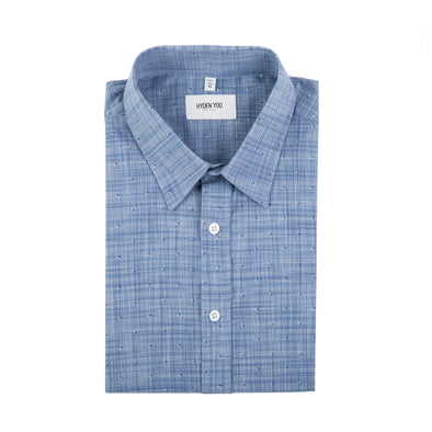 ALBIATE 1830 DRESS SHIRT - NAVY MINI PRINTED DOTS