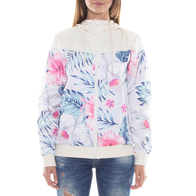 GREY/PINK LIGHT HOOD JACKET