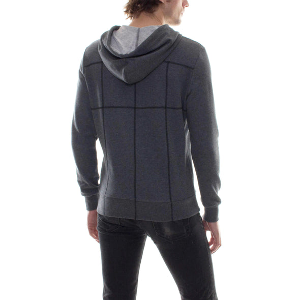 CHARCOAL HOODIE WITH CONTRAST STITCHING