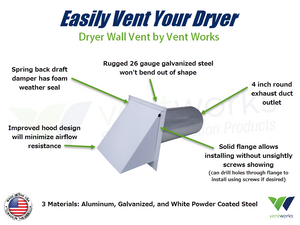 Easily Vent Your Dryer With A Dryer Wall Vent