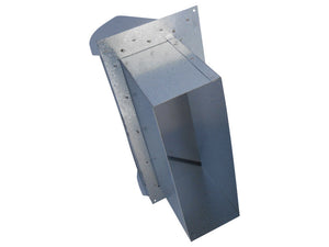 Rectangular Wall Vent Galvanized Back View