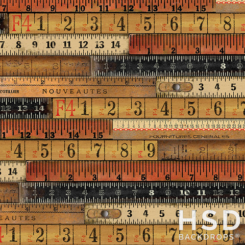 Back to School Photography Backdrop | Vintage Rulers