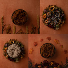 Digital Backdrop | Burnt Orange Autumn Collection