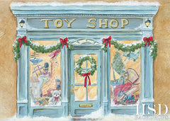 Photography Backdrop Background | Christmas Toy Shop