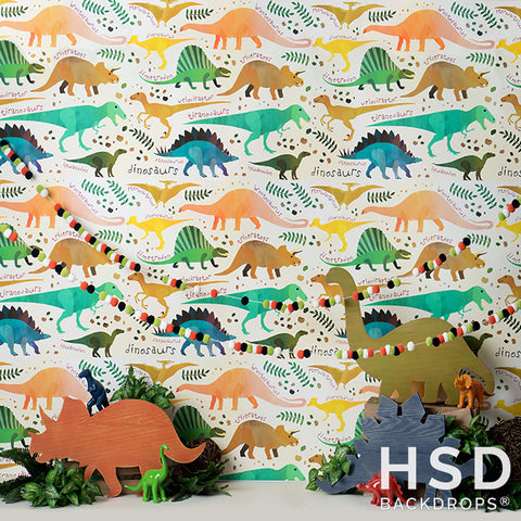 Photography Backdrop Background | Dinosaur Set Up