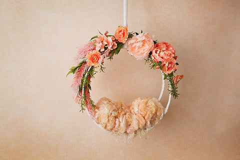 Digital Backdrop | Hanging Basket III Coll. | Creamy Peach
