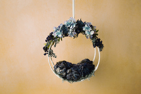 Digital Backdrop | Hanging Basket IV Coll. | Denim