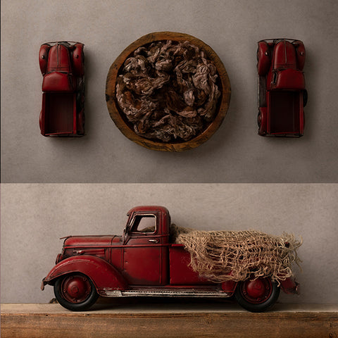 Digital Backdrop | Little Red Truck Collection