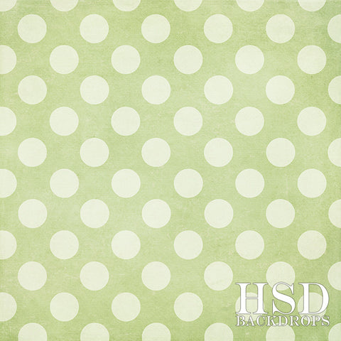 Photography Backdrop Background | Green Polka Dots