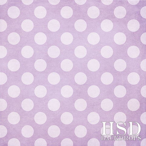 Photography Backdrop Background | Purple Polka Dots