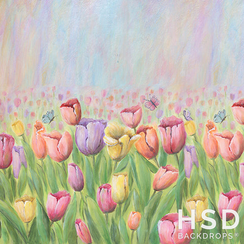 Photography Backdrop Background | Tulip Field