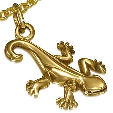 Bronze Lucky Lizard Pendant - Pendants - Rebelroad.co.za