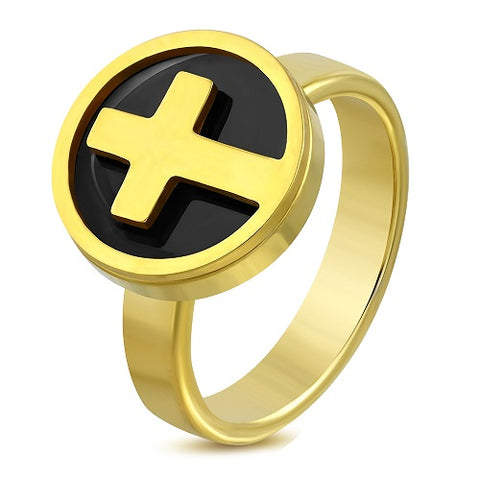 Cross Circle Cocktail Ring