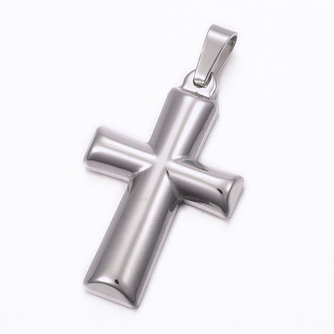 Half Round Cross Pendant - Pendants - Rebelroad.co.za
