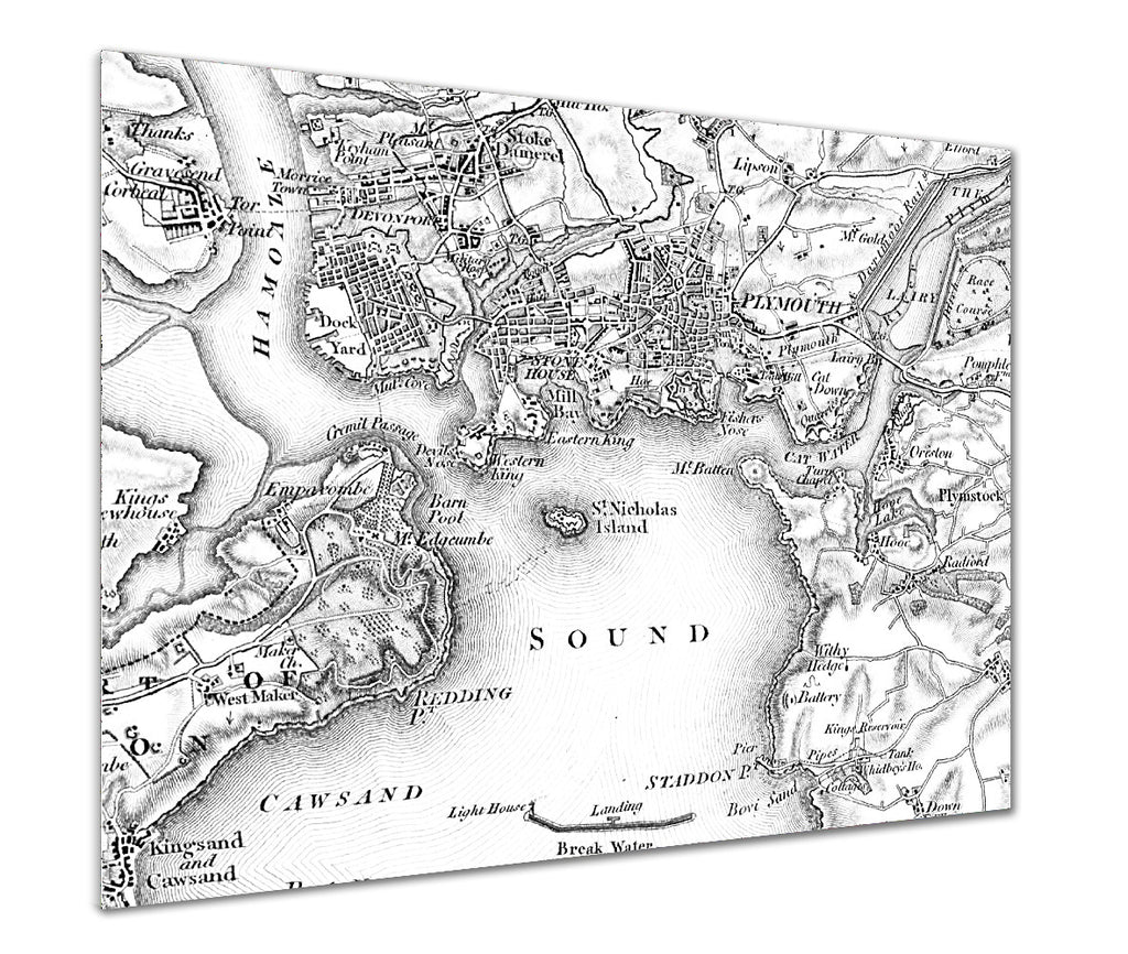 Map Poster - Custom Vintage Ordnance Survey - 1805-1874 (Old Series) - Love Maps On... - 1
