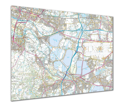 Map Poster - Custom Ordnance Survey Explorer Map