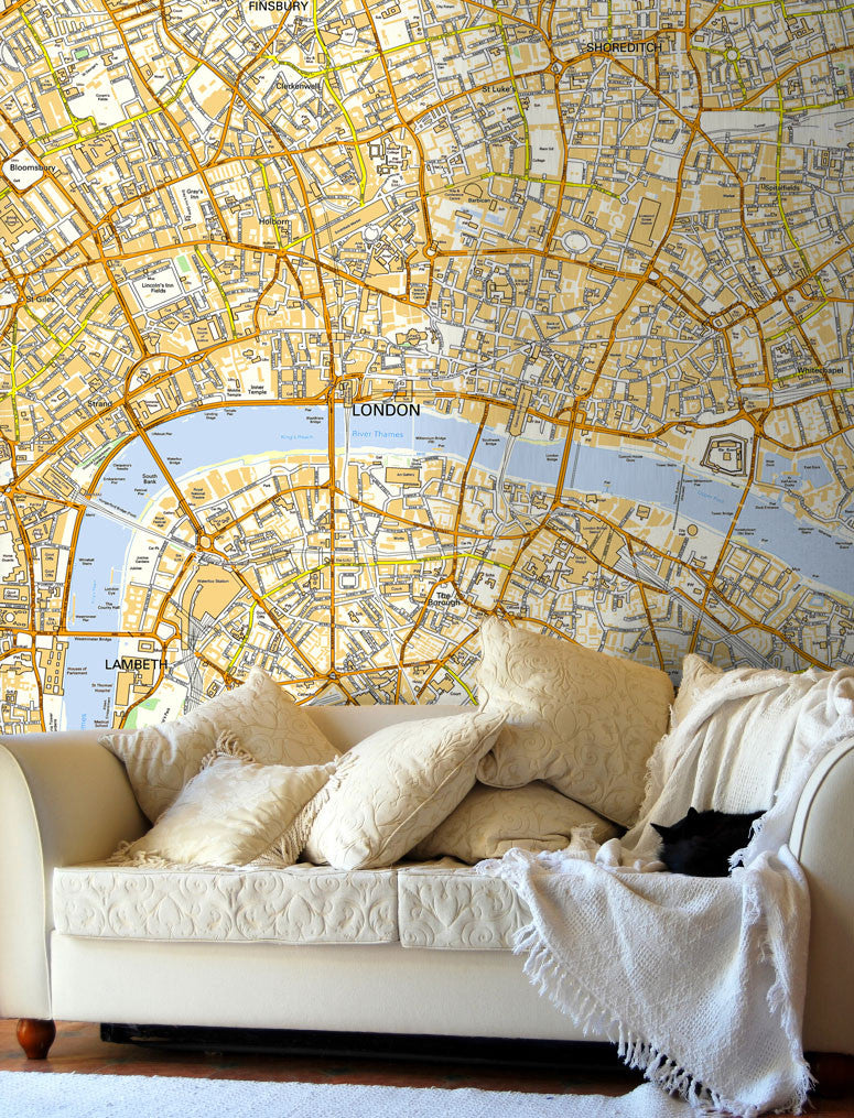 Map Wallpaper - Custom Ordnance Survey Street Map - Love Maps On... - 1