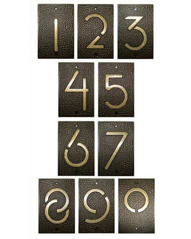 Frank Lloyd Wright House Numbers Bronze Finish