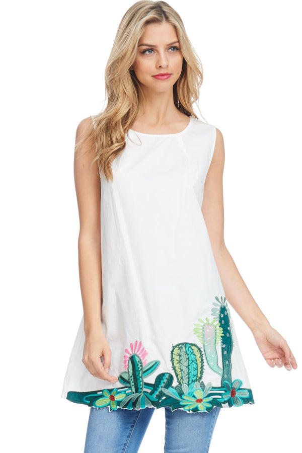 Cactus Embroidered Tunic