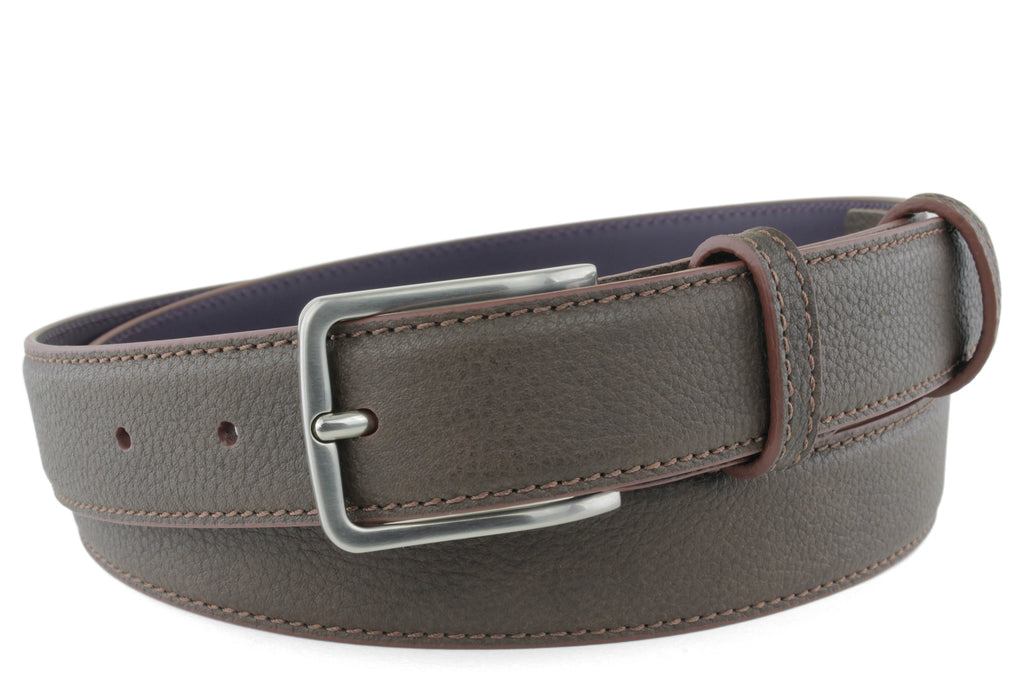 Narrow Mottled Bitter Choc Novak Belt