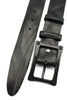Vintage Feel Black Leather Carbon Fibre Screw Belt