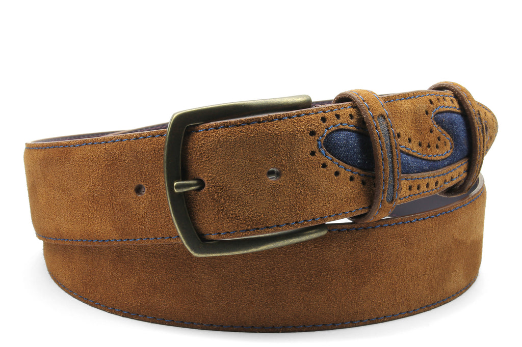 Silverado Tan Denim Insert Belt