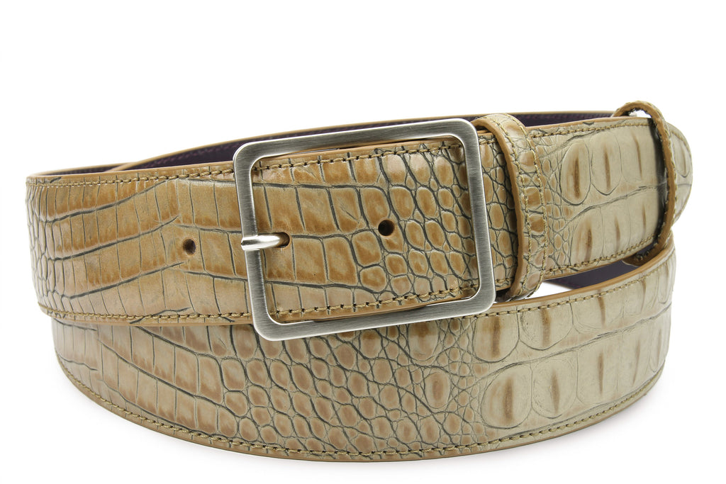 Magic Mushroom Mock Croc Frame Belt