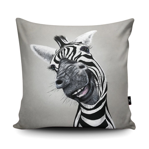 Cheeky Zebra Cushion by Adam Barsby