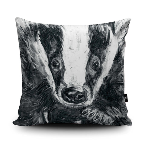 Badger Cushion by Bex Williams