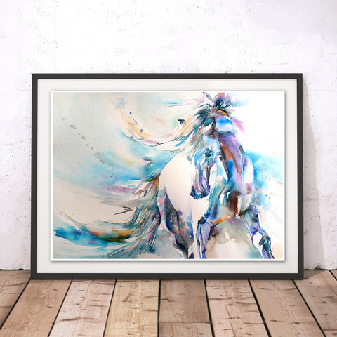 Spanish Horse Original Print by Liz Chaderton