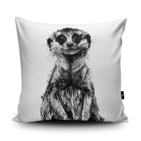 Meerkat Cushion by Bex Williams