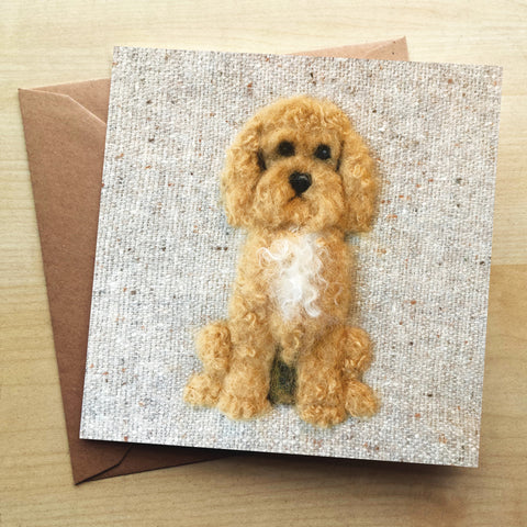 Cockapoo Greetings Card by Sharon Salt