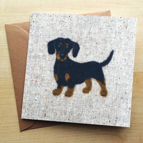 Dachshund Greetings Card by Sharon Salt