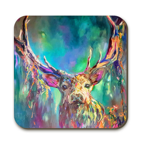 Woodland Stag Coaster by Sue Gardner