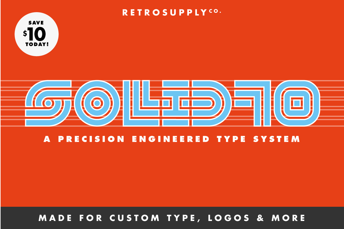 Fonts - The RetroSupply Complete Font Pack