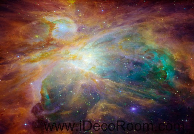 Colorful Clouds Star Sky Wallpaper Wall Decals Wall Art Print Business Kids Wall Paper Nursery Mural Home Decor Removable Wall Stickers Ceiling Decal