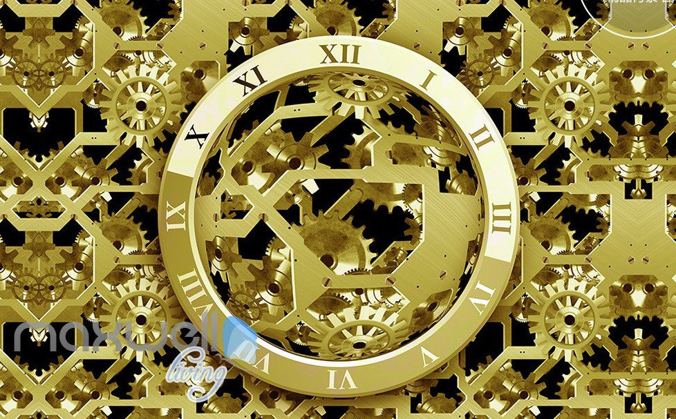 3D Watch Gear Machine Entire Room Wall Murals Wallpaper Paper Decals Art Print Decor IDCQW-000334